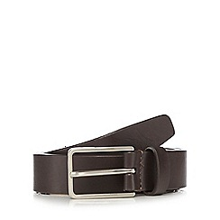 J by Jasper Conran - Brown leather pin buckle skinny belt