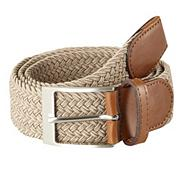 Natural plaited belt