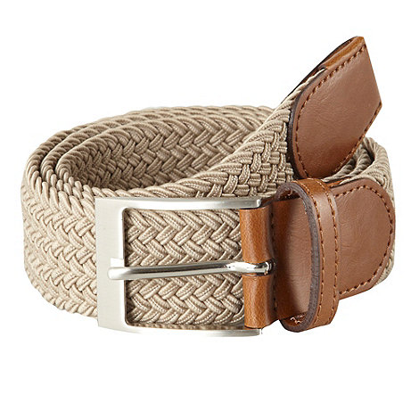 Maine New England - Big & tall natural plaited belt