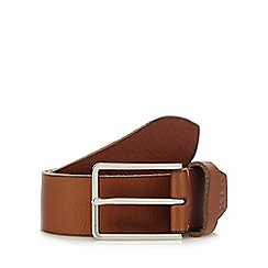 RJR.John Rocha - Tan grained leather pin buckle belt