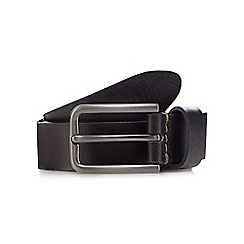 RJR.John Rocha - Black grained leather skinny belt