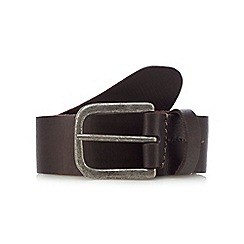 RJR.John Rocha - Brown leather pin buckle belt