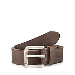RJR.John Rocha - Brown leather pin buckle belt