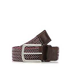 Hammond & Co. by Patrick Grant - Pink plaited buckle belt