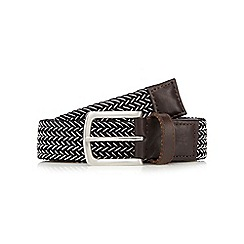 Hammond & Co. by Patrick Grant - Black and white woven belt