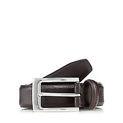 J by Jasper Conran - Brown leather reversible belt