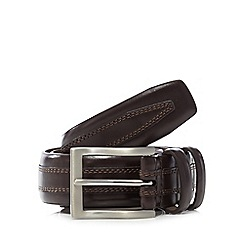 Jeff Banks - Brown leather striped belt