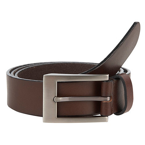 J by Jasper Conran - Designer brown slim italian leather belt