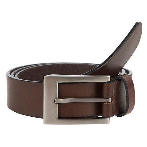 J by Jasper Conran - Designer brown slim italian leather belt