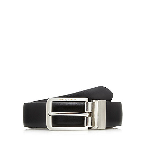 J by Jasper Conran - Designer black reversible leather buckle belt