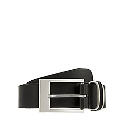 Jeff Banks - Designer black leather belt with inset detail