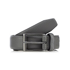 Red Herring - Grey pebble grain buckle belt