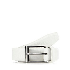 Red Herring - White pebble grain buckle belt