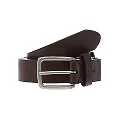 Red Herring - Brown leather scored edge belt