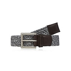 RJR.John Rocha - Big and tall grey contrasting webbing buckle belt