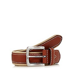 Maine New England - Tan canvas leather buckle belt