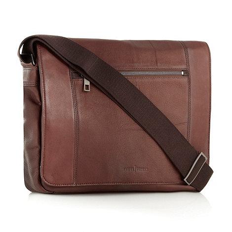 J by Jasper Conran - Designer brown leather despatch bag