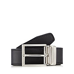 The Collection - Black coated leather belt