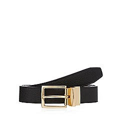 The Collection - Black reversible leather gold buckle belt