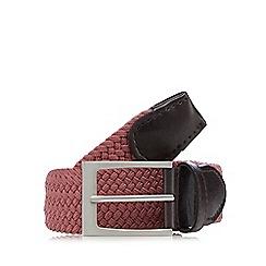 Maine New England - Pink woven buckle belt