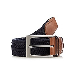 Maine New England - Big and tall navy webbing buckle belt