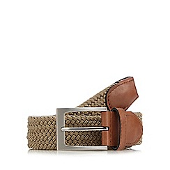 Maine New England - Big and tall beige webbing buckle belt