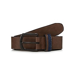 Red Herring - Brown leather buckle belt