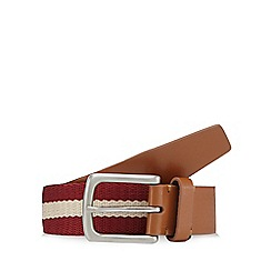 Red Herring - Red webbing striped belt