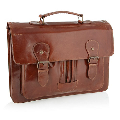 RJR.John Rocha - Designer brown leather satchel bag