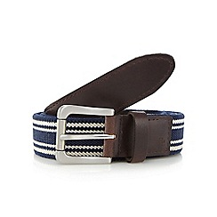 Hammond & Co. by Patrick Grant - Navy striped belt