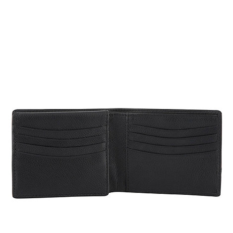 Dents - Black leather billfold wallet