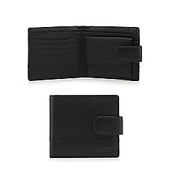 Dents - Black leather tab wallet in a gift box