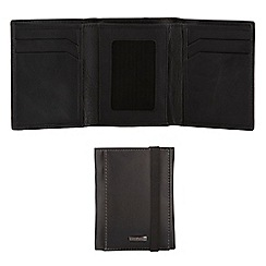 J by Jasper Conran - Black leather trifold wallet in a gift box