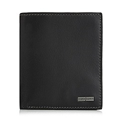 J by Jasper Conran - Black leather logo billfold wallet in a gift box