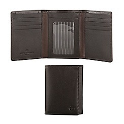 Jeff Banks - Designer black trifold leather wallet