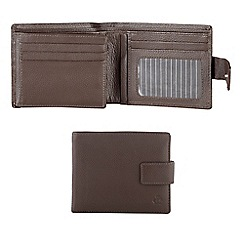 Jeff Banks - Designer brown leather tab wallet
