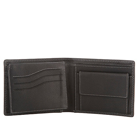 Jeff Banks - Designer black textured leather wallet
