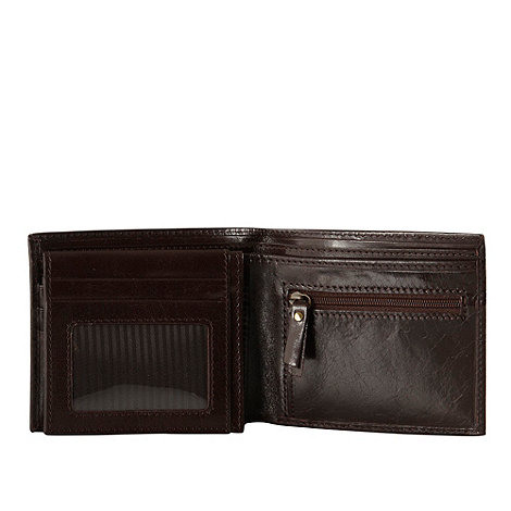 RJR.John Rocha - Designer brown debossed Italian leather wallet