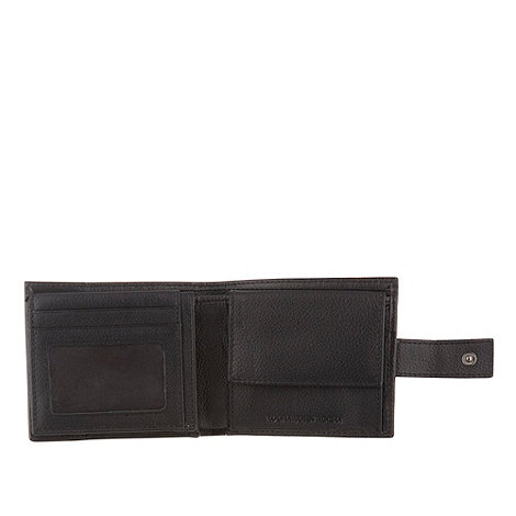 RJR.John Rocha - Designer black tabbed leather wallet