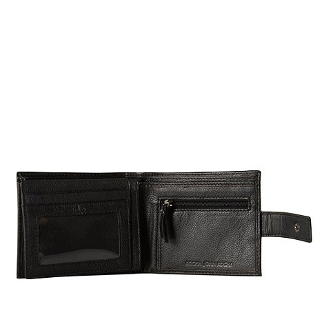 RJR.John Rocha - Designer black leather fold out wallet