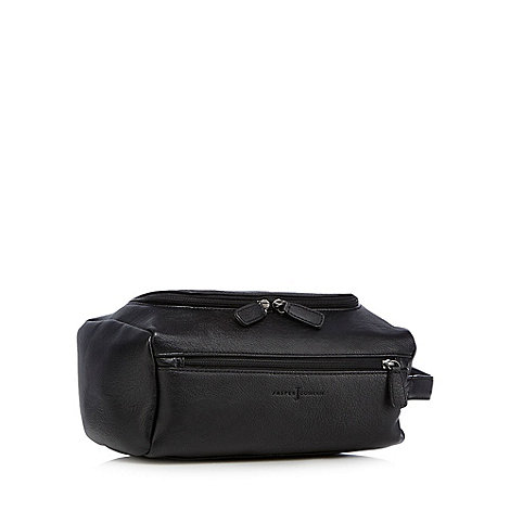 J by Jasper Conran - Designer black zip top wash bag