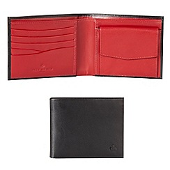 Jeff Banks - Designer black leather bill fold wallet