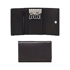 The Collection - Black leather fob wallet