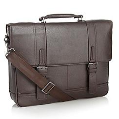 J by Jasper Conran - Designer dark brown business briefcase