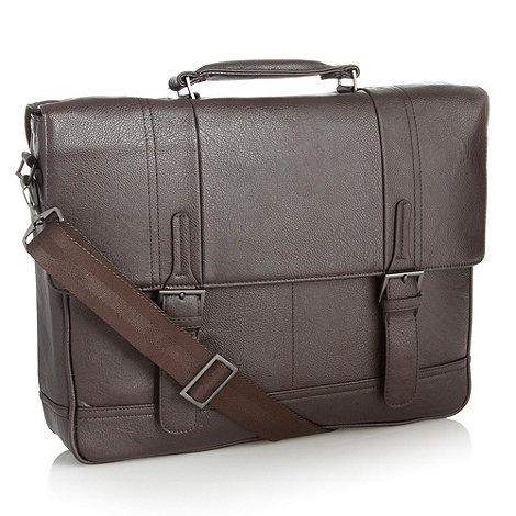 J by Jasper Conran - Designer dark brown business briefcase