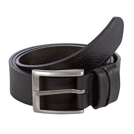 RJR.John Rocha - Designer black two keeper grained leather belt