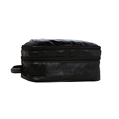 Jeff Banks - Designer black double zipped wash bag