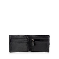 Jeff Banks - Black leather popper fasten wallet in a gift box
