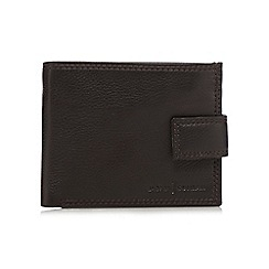 J by Jasper Conran - Brown grained leather tab wallet