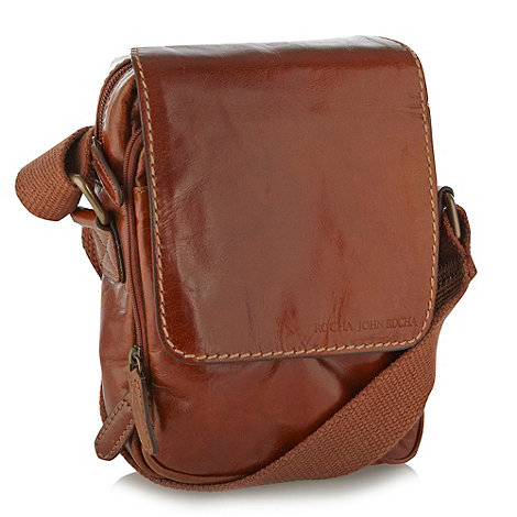 RJR.John Rocha - Designer tan small leather cross body bag